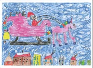 Lily Christmas Card